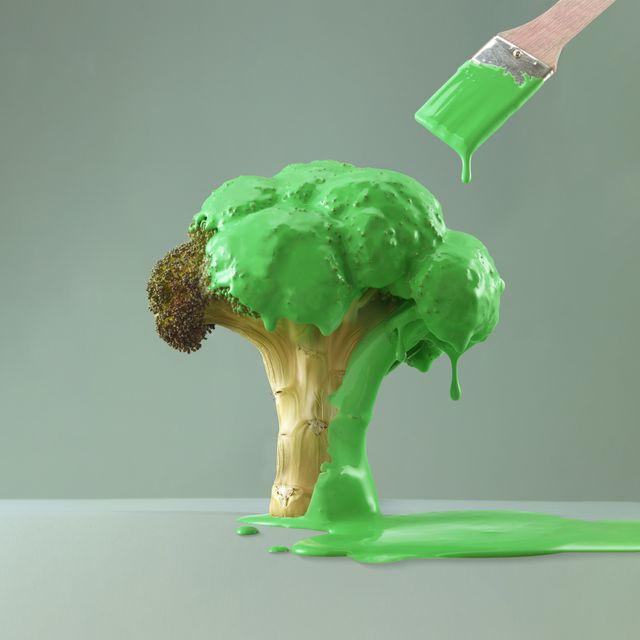 Greenwashing Painted Broccoli