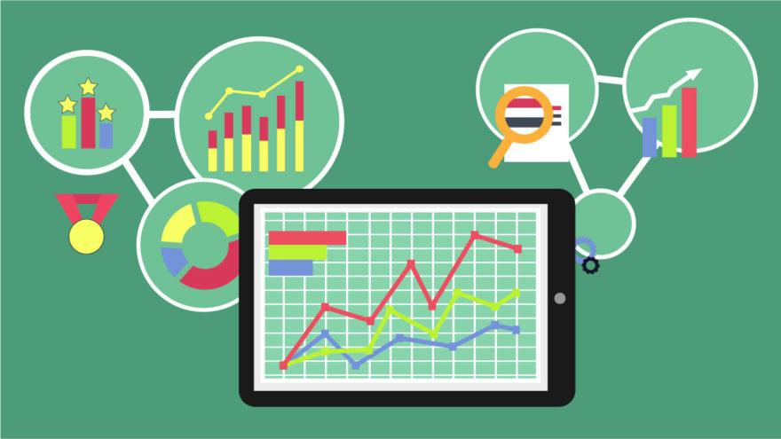 Green Marketing Metrics Graphic Illustration